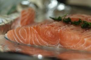 Filetto di salmone a bassa temperatura