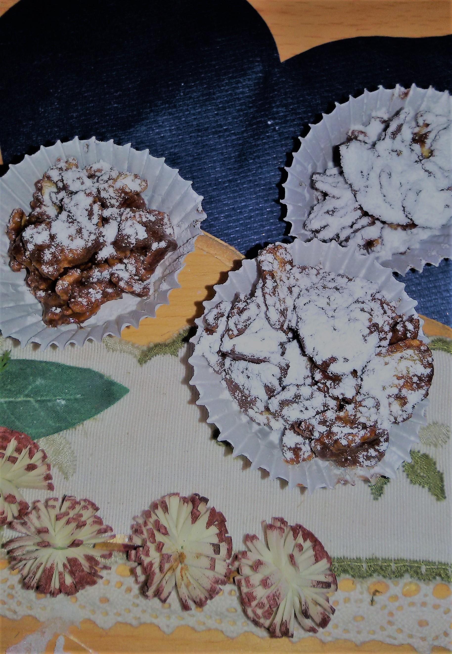 Rose del deserto al doppio cioccolato e corn flakes