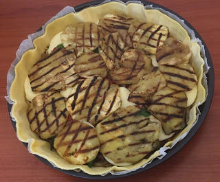 torta salata di melanzane con pasta brise'