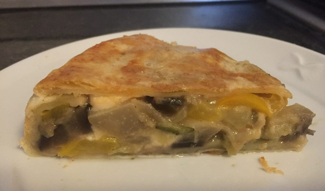torta salata di verdure e stracchino