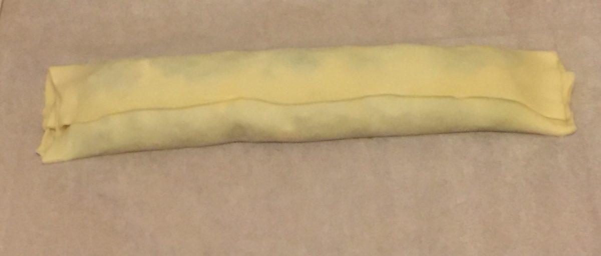 girelle di sfoglia con spinaci e bocconcini di bufala