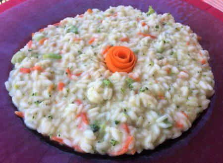 Risotto broccoli e carote