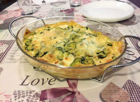 Lasagna bianca con prosciutto e zucchine