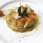Lasagne di merluzzo con broccoli e carote