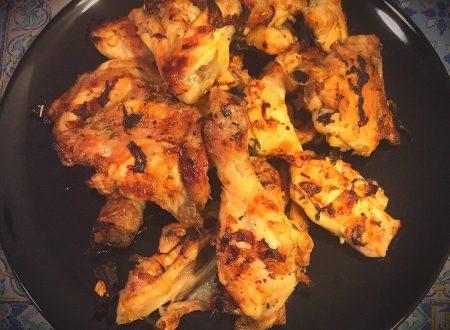 Pollo a pezzi al forno
