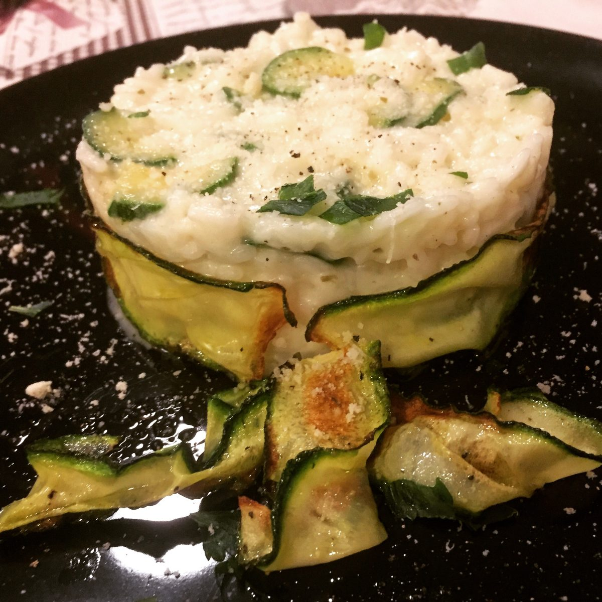 riso coi fiocchi di zucchina