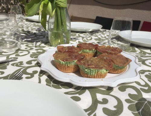 Mini cheesecake rucola e bresaola senza cottura