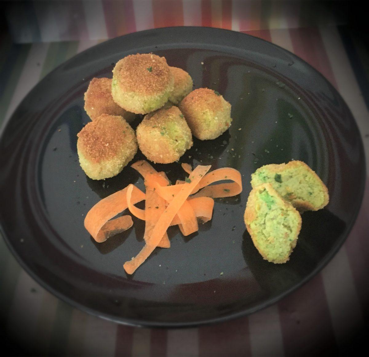 polpette carote ricotta broccoli