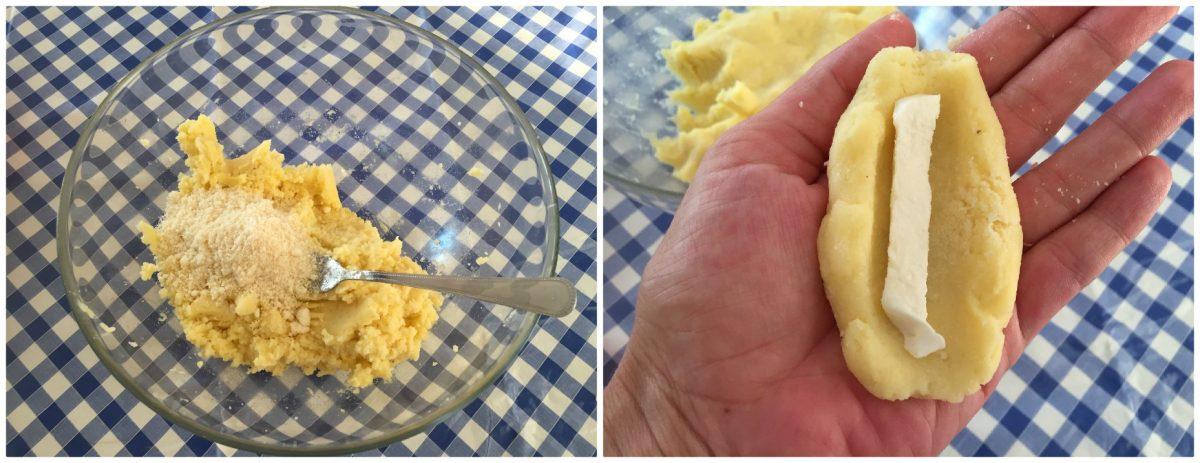 crocchette di patate ripiene al forno