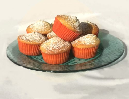 Muffin yogurt e pesche