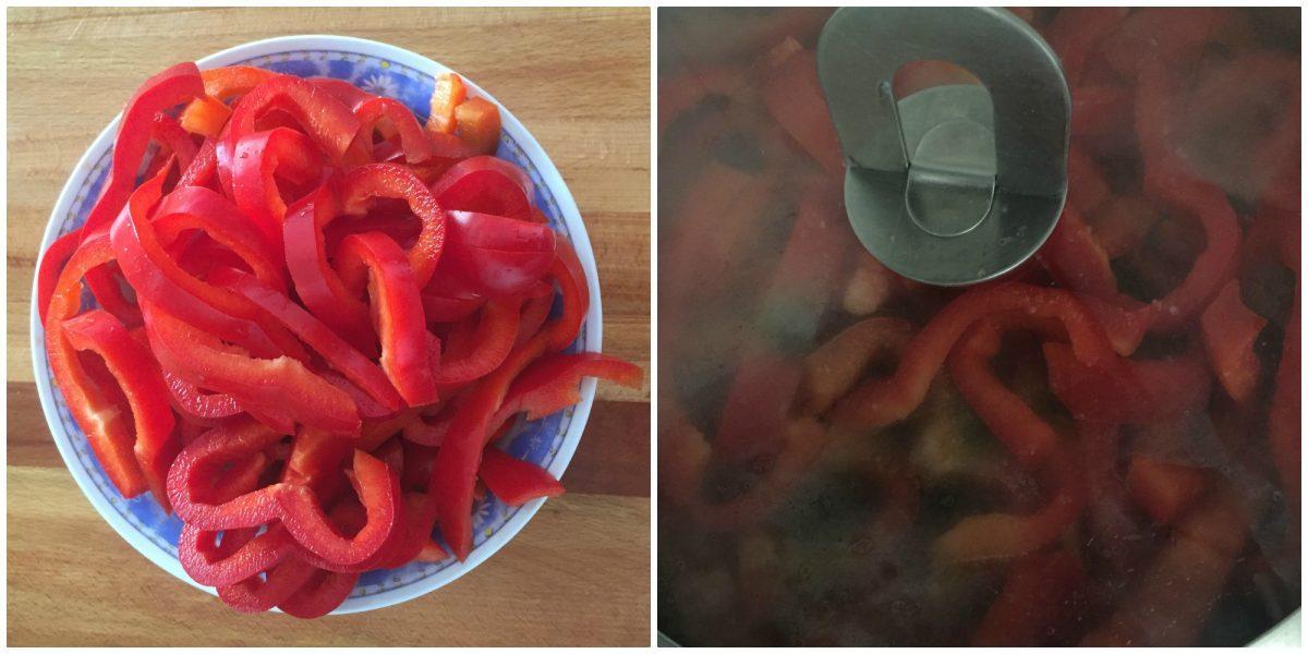 mezze maniche con crema di peperoni saporita