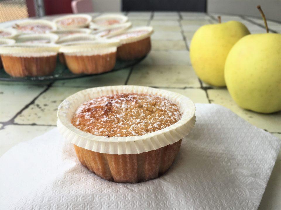 tortine mele nutella muffin