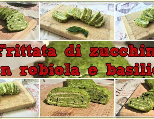 Frittata di zucchine con robiola e basilico