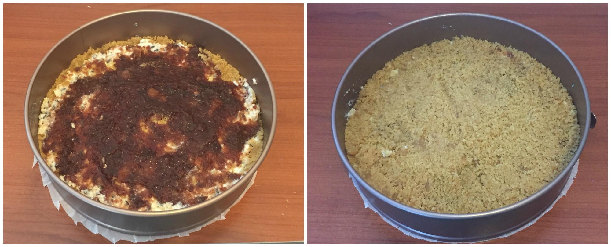 sbriciolata ricotta cioccolato marmellata