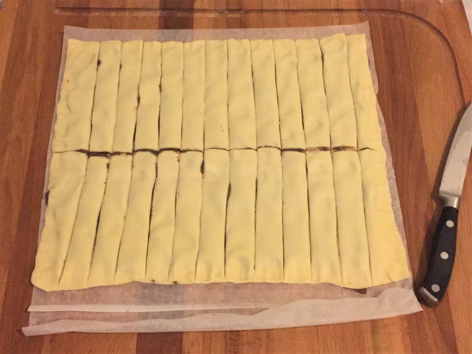 torciglioni pasta sfoglia pate olive