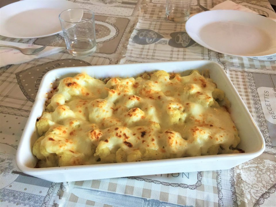 cavolfiore gratinato besciamella formaggio