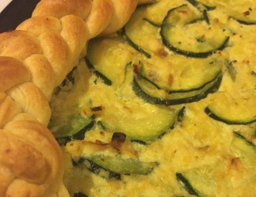 Torta salata porri e zucchine