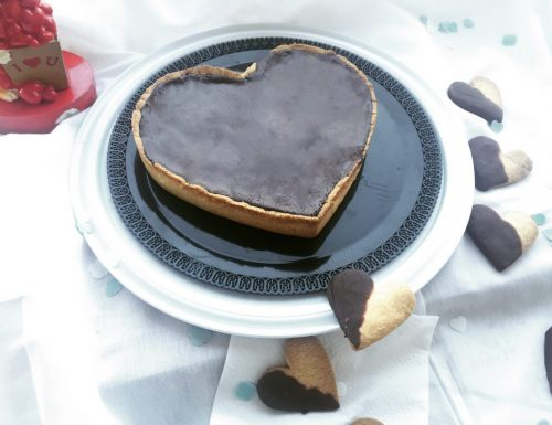 Un cuore di pere e cioccolato..la crostata di San Valentino.