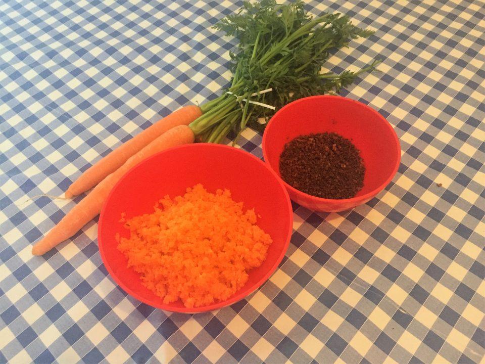 torta carote cioccolato colazione sana