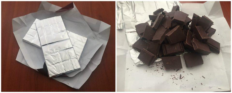 salame cioccolato senza uova noci