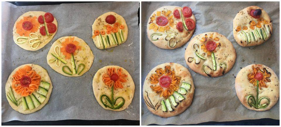 focaccine verdure bambini disegni