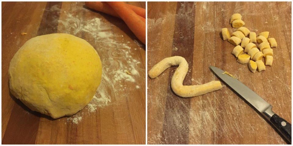 giovedì gnocchi carote senza patate