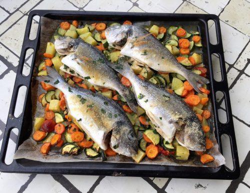 Orata al forno con verdure – ricetta facile e veloce