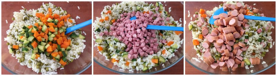 insalata riso verdure vapore