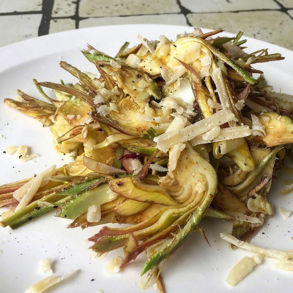 insalata carciofi parmigiano croccante