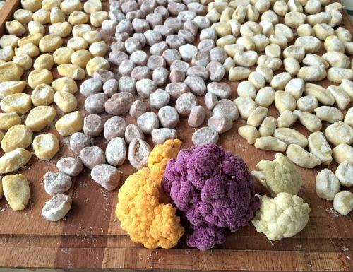 Gnocchi colorati di cavolfiore.