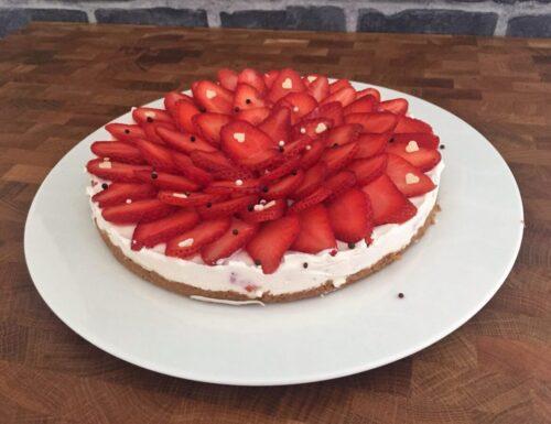 Cheesecake mascarpone e fragole