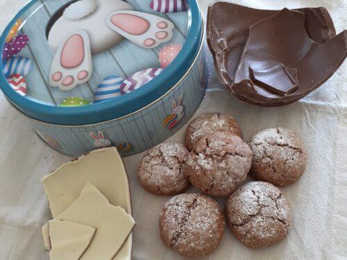 Biscotti riciclo uova di cioccolato