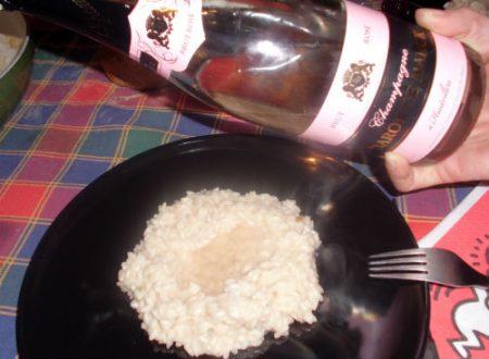 Risotto allo Champagne rosè