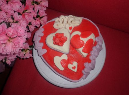 """Torta """"Cuore&Cuori"""" in pdz, S.Valentino"""