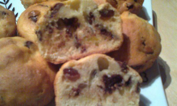 Muffins allo strudel e cioccolato senza latticini