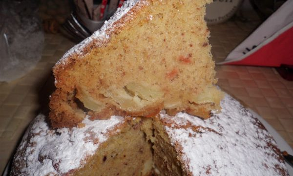 Torta di mele e kamut con farro, ricetta dietetica (58 Kcal)