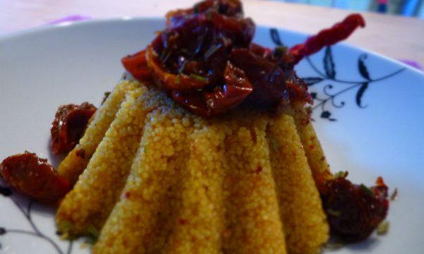 Cous cous speziato con pomodorini confit alla marocchina
