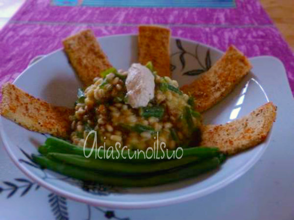 orzotto fagiolini tofu