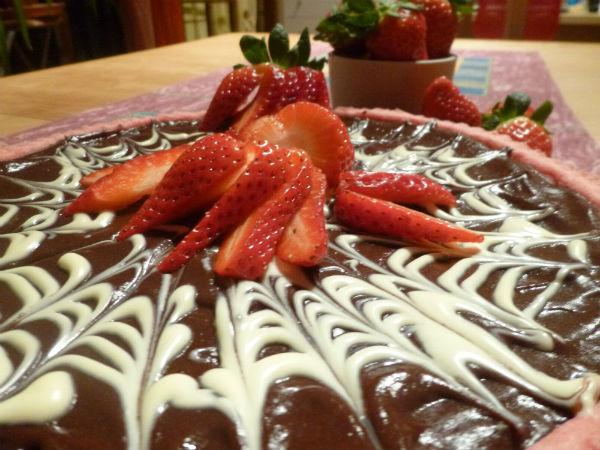 Crostata fragole e cioccolato 1