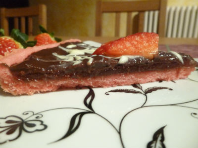 Crostata fragole e cioccolato 2