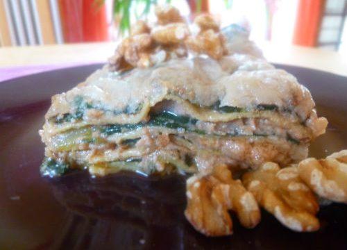 Lasagne con coste e noci
