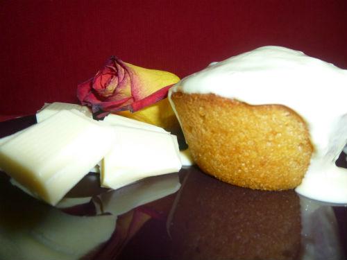 Mini muffin pompelmo e cocco con fonduta al cioccolato bianco 1