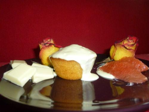 Mini muffin pompelmo e cocco con fonduta al cioccolato bianco 2