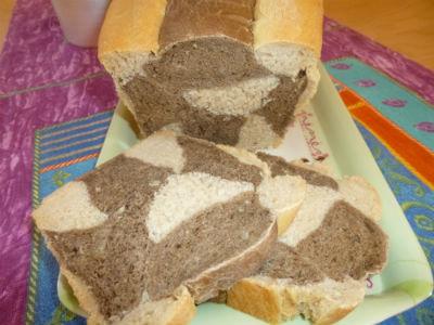 Pane marmorizzato a scacchiera 1