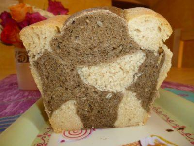 Pane marmorizzato a scacchiera