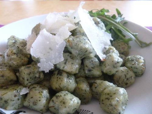 Gnocchi eco di lattuga e rucola 2