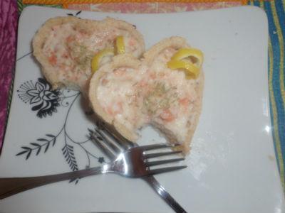 Tortina, delicata, salmone