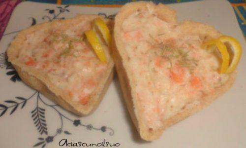 Tortina delicata al salmone