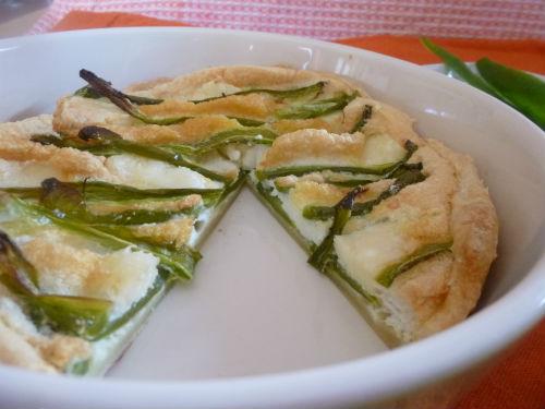 Crostata light con peperoni verdi albumi e caprino 1