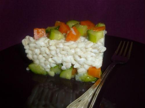 Orzo mantecato con carote e zucchine ricetta light
